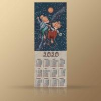 """Календарь декоративный на 2020 год """"Млечный путь"""""""