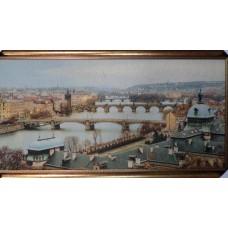 """Гобелен """"Пражские мосты"""" 90х35"""