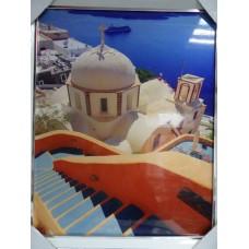"Постер ""Санторини"" (Греция) 40х50"