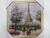 """Гобелен """"Париж Эйфелева башня"""" 50х50"""