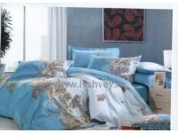 """Комплект постельного белья 1,5 - спальный """"Капри блю"""" сатин Shining Star"""