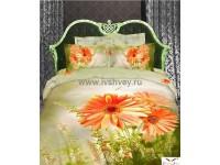 """Комплект постельного белья 1,5 - спальный """"Кассия"""" сатин 3D Shining Star"""