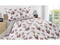 """Комплект постельного белья 2 - спальный """"Катарина"""" поплин (простыня на резинке)"""