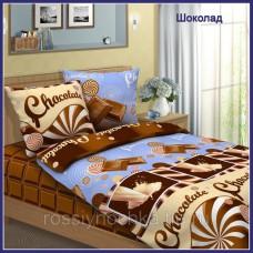 """Комплект постельного белья евро """"Шоколад"""" бязь"""