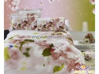 """Комплект постельного белья 1,5 - спальный """"Мираж"""" сатин 3D Shining Star"""