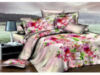 """Комплект постельного белья Дуэт """"Цветущий сад"""" сатин Premium"""