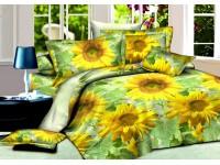 """Комплект постельного белья 1,5-спальный """"Подсолнухи"""" сатин Premium"""