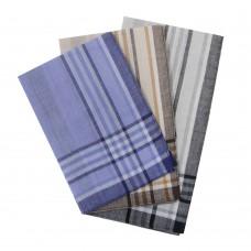 45447L Мужские носовые платки светлые 38х38 Melagrana 12 шт.