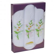 PV60 Подарочный набор Женские Носовые платки с вышивкой Etteggy 3 шт.